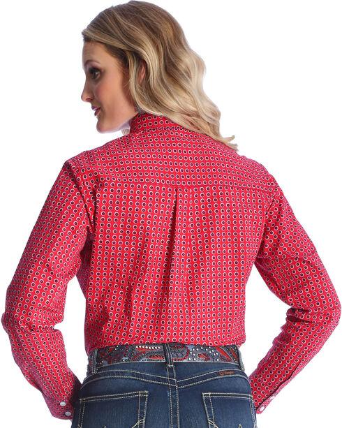 Wrangler Women's Red George Strait Medallion Print Shirt , Red, hi-res