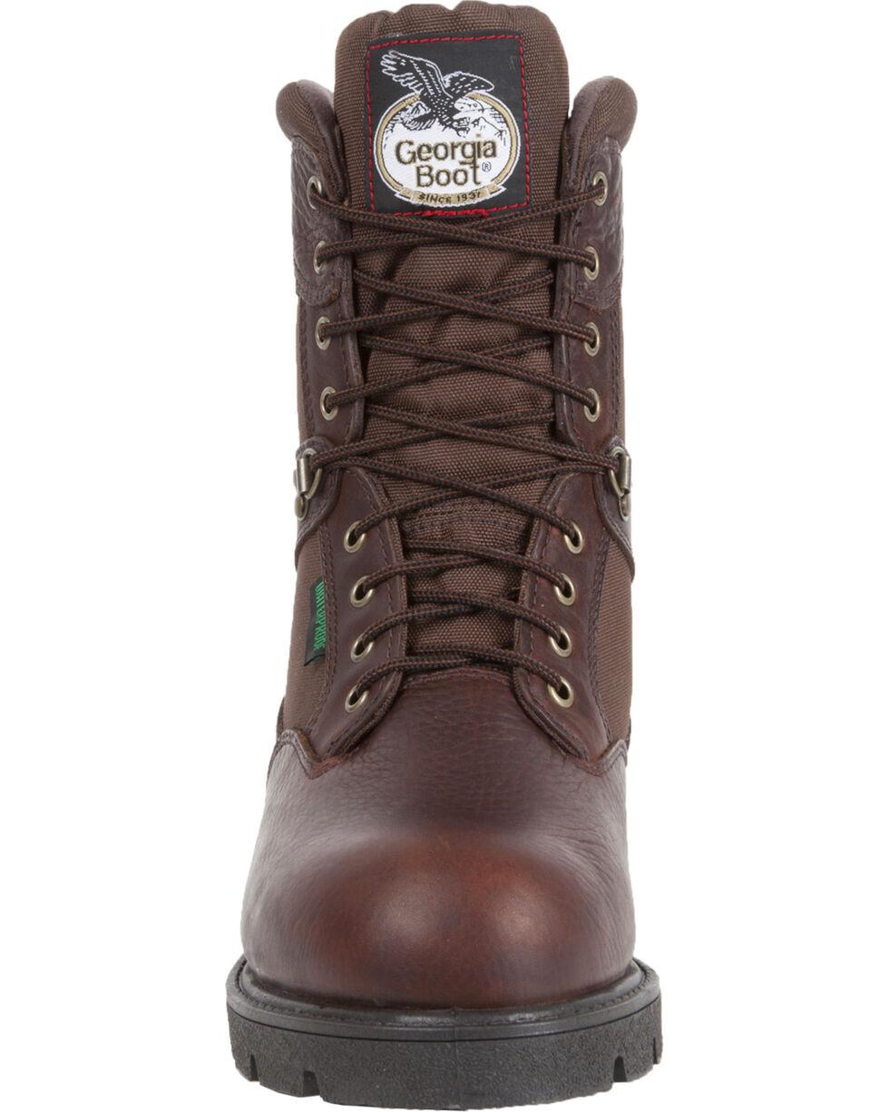 Georgia Men's Homeland Waterproof Insulated Work Boots, Brown, hi-res