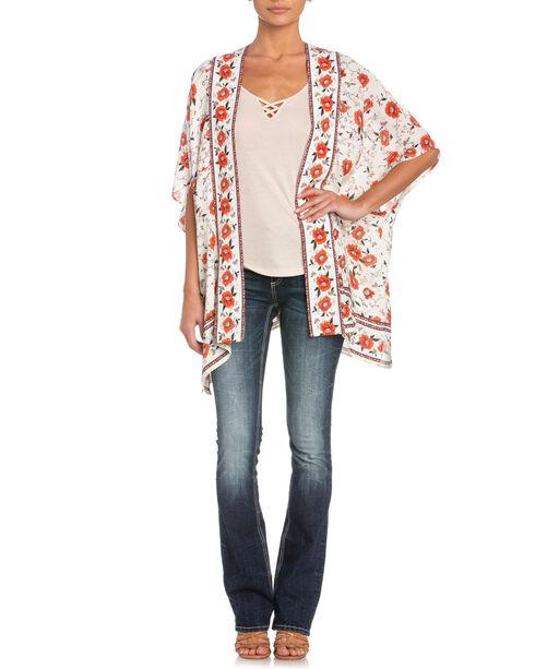 Miss Me Floral Kimono, Cream, hi-res