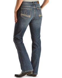 Wrangler Women's Aura Instantly Slimming Embroidered Pocket Bootcut Jeans, , hi-res