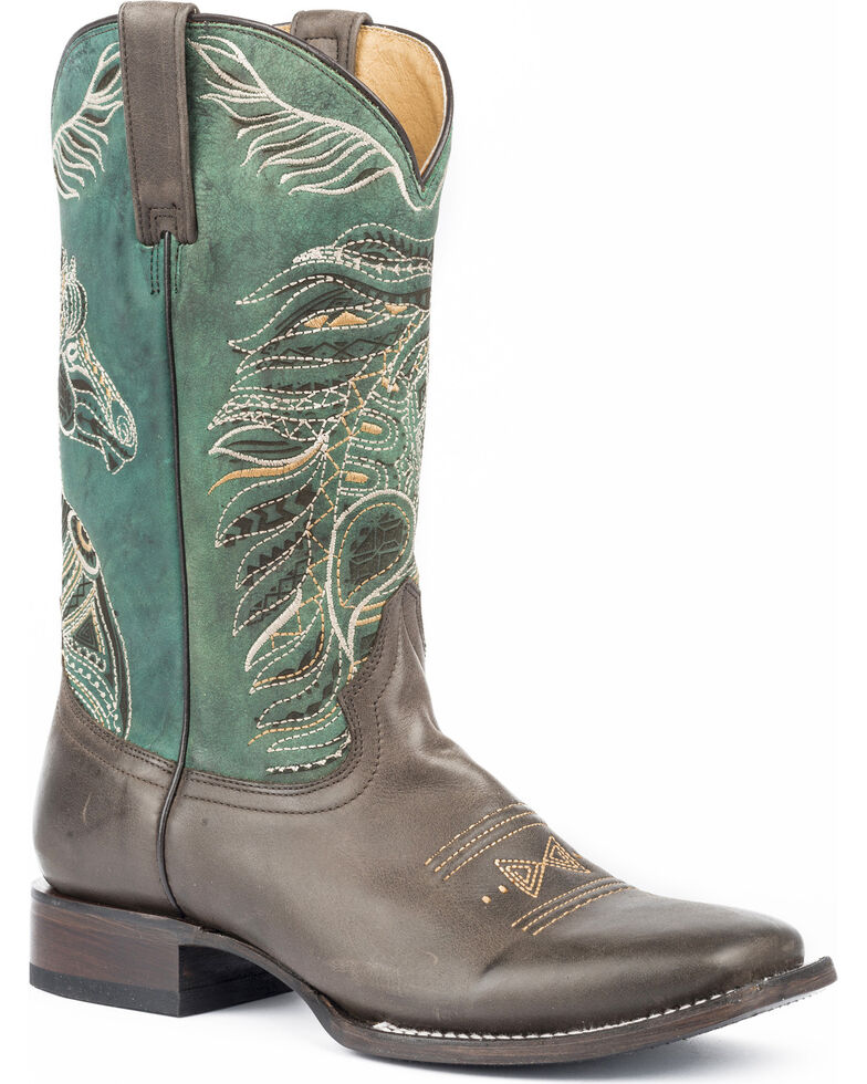 Roper Womens Art Of The Horse Cowgirl Boots