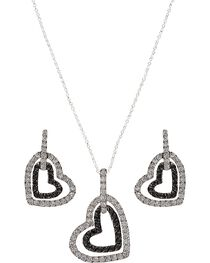 Montana Silversmiths Hearts Deep Reflection Jewelry Set, , hi-res