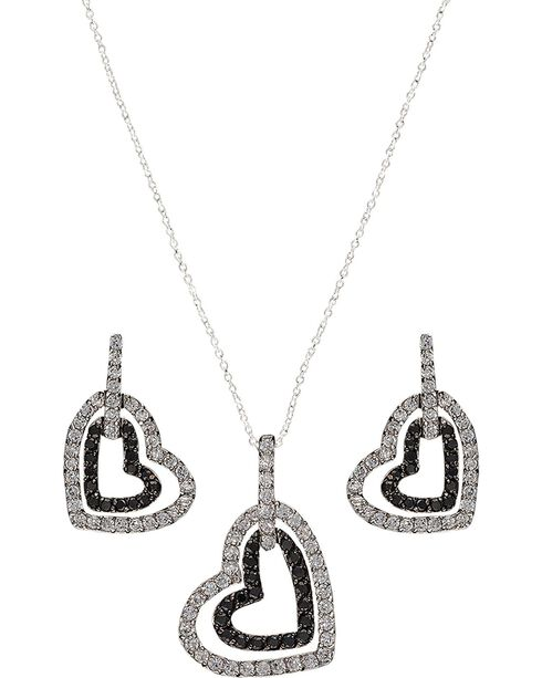 Montana Silversmiths Hearts Deep Reflection Jewelry Set, Silver, hi-res