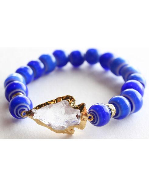 Everlasting Joy Jewelry Women's Blue Tile Arrowhead Bracelet , Blue, hi-res