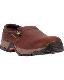 McRae Men's Comp Toe Met Guard Slip-On Work Shoes, , hi-res