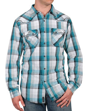 Moonshine Spirit® Men's Banderas Western Shirt, Blue, hi-res