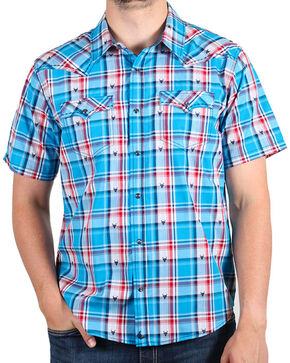Cody James® Men's Bushwacker Short Sleeve Shirt, Royal Blue, hi-res
