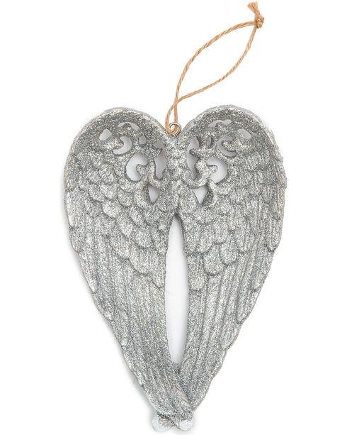 BB Ranch Silver Glitter Wings Ornament, Silver, hi-res