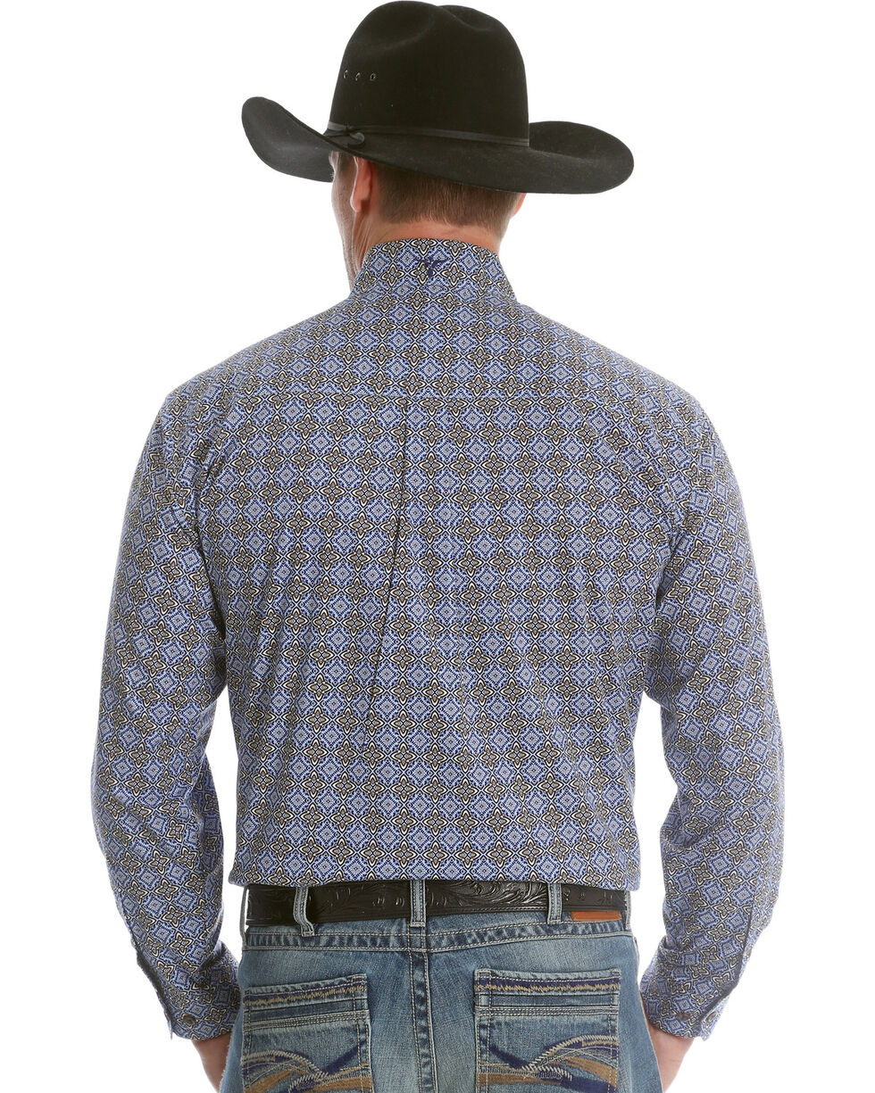 Wrangler Men's Blue 20X Advanced Comfort Competition Shirt , , hi-res