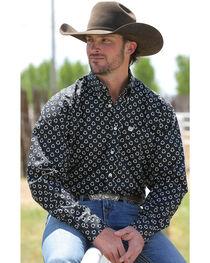 Cinch Men's Black Pattern Long Sleeve Shirt , , hi-res