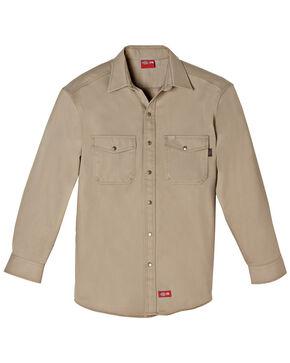 Dickies Flame Resistant Twill Work Shirt, Khaki, hi-res