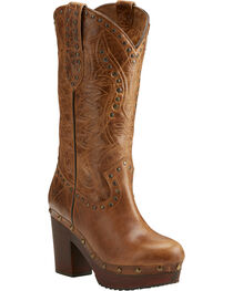 Ariat Women's Brown Chattanooga Bite The Dust Boots - Round Toe , , hi-res