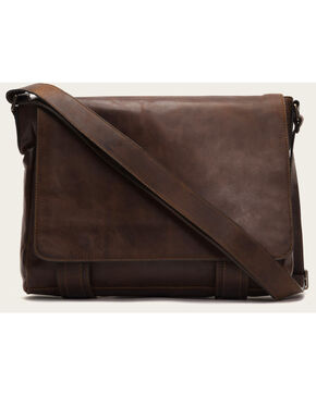 Frye Men's Logan Messenger Bag , Dark Brown, hi-res