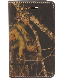 Nocona Mossy Oak Camo Leather iPhone 5 and 5S Case Wallet, , hi-res