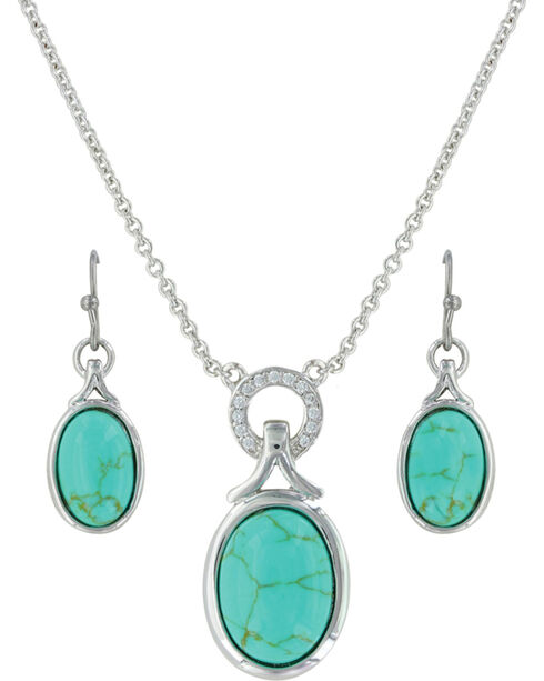 Montana Silversmiths Women's Silver On Top Of The World Jewelry Set , Silver, hi-res