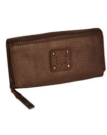 STS Ranchwear Chocolate Cassie Joh Trifold Wallet , , hi-res