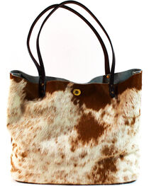 SouthLife Supply Women's Cowhide Square Tote, , hi-res