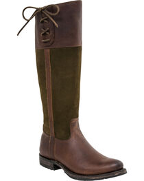 Lucchese Women's Emma Equestrian Boots - Round Toe , , hi-res