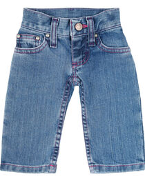 Wrangler Toddler Girls' Pink Stitched Jeans, , hi-res