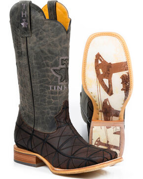 Tin Haul Men's Derrick Western Boots, Brown, hi-res