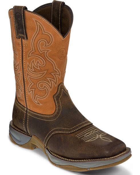 Tony Lama 3R Men's Junction Dusty Work Boots - Square Toe, Brown, hi-res