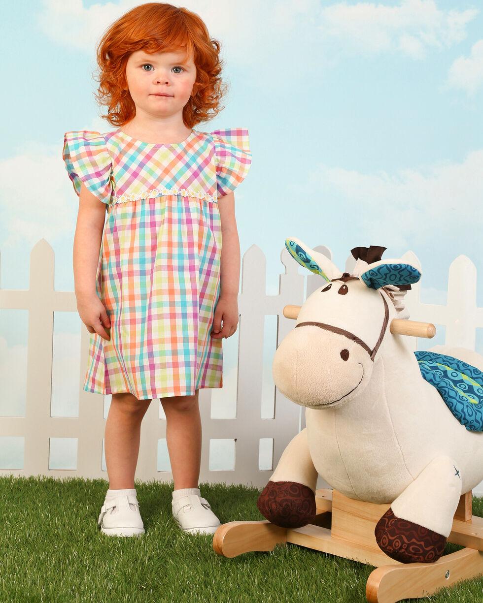 Wrangler Toddler Girls' Plaid Ruffle Sleeve Tunic , Multi, hi-res