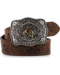 Cody James® Kid's Floral Tooled Belt, , hi-res