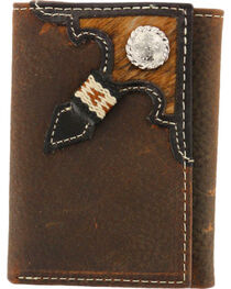 Cody James® Men's Tri-Fold Hair-On Hide Wallet, , hi-res
