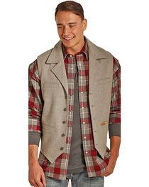 Powder River Outfitters Men's Light Grey Slim Fit Fully Lined Vest , , hi-res