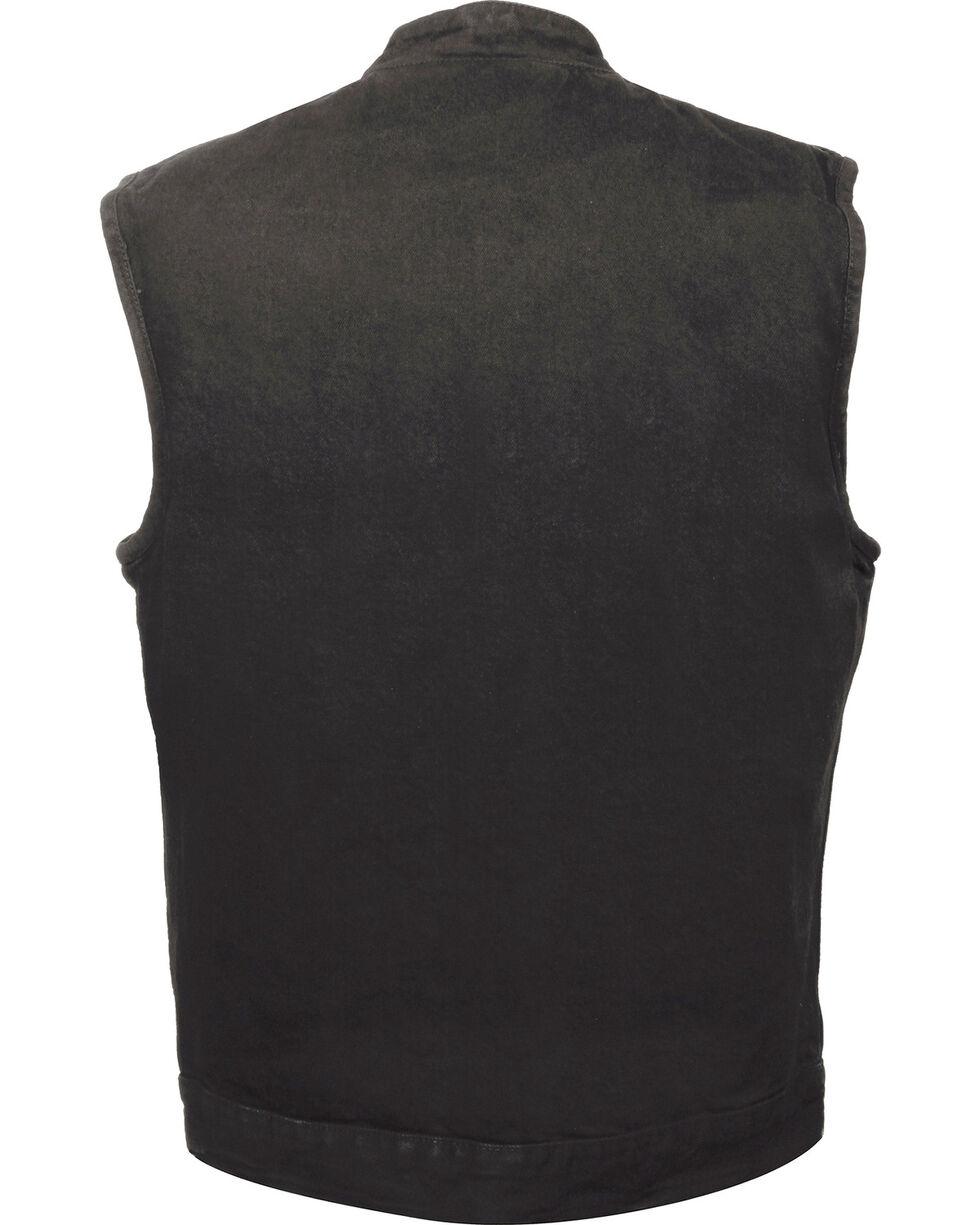 Milwaukee Leather Men's Snap Front Denim Club Style Vest w/ Gun Pocket - Big - 5X, , hi-res
