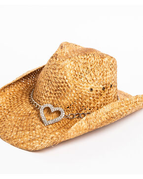 Shyanne® Women's Heart Attack Cowboy Hat, Brown, hi-res