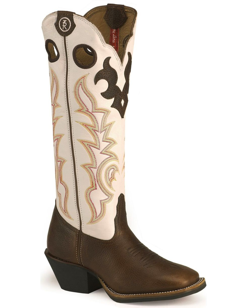 "Tony Lama Women's 3R Collection 16"" Western Boots, Dark Brown, hi-res"