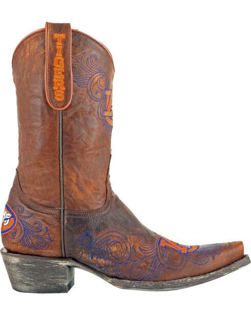 Gameday Auburn University Cowgirl Boots - Snip Toe, Brass, hi-res