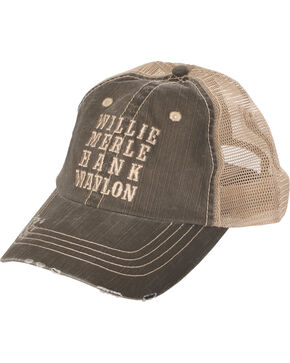 Cody James Men's Country Stars Trucker Hat, Brown, hi-res