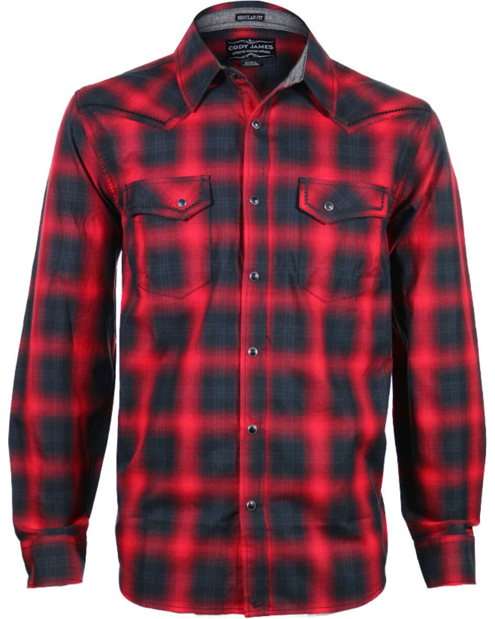 Cody James® Men's Red Sky Plaid Long Sleeve Shirt, , hi-res