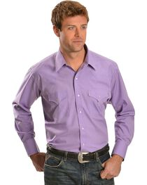Ely Classic Lavender Western Shirt - Big & Tall, , hi-res