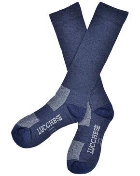 Lucchese Men's Navy Wool Socks , Navy, hi-res
