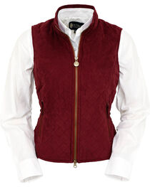 Outback Trading Co. Women's Wine Grand Prix Quilted Vest , , hi-res