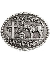 Nocona Belt Co Men's Christian Cowboy Belt Buckle, , hi-res