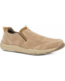 Roper Men's Speed Tan Canvas Swifter Sole Shoes - Round Toe, , hi-res