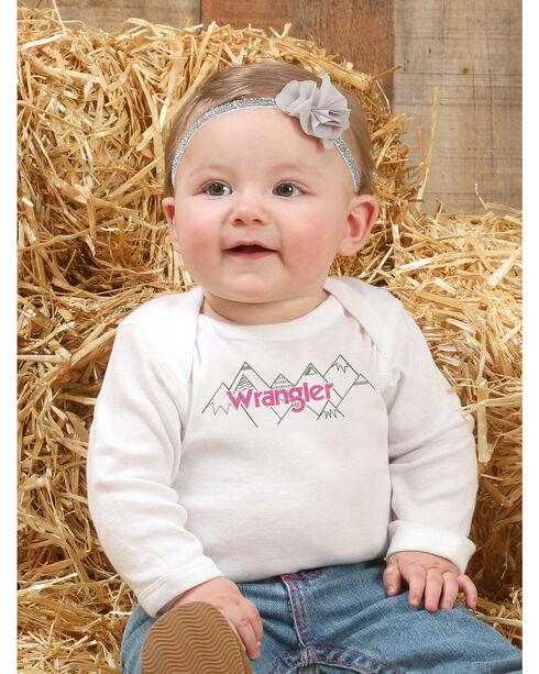 Wrangler Infant Girls' White Screenprint Onesie , White, hi-res