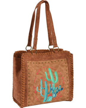 Catchfly Women's Brown Concealed Carry Elsa Canvas Tote , Brown, hi-res