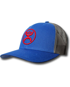 HOOey Men's Logo Embroidered Trucker Cap, Blue, hi-res