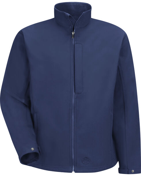 Red Kap Men's Navy Soft Shell Jacket , Navy, hi-res