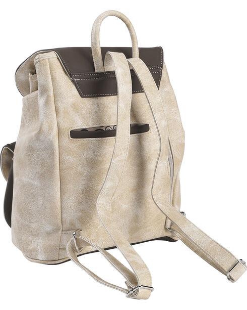 Wear NE Wear Women's Western Overlay Backpack, Beige/khaki, hi-res