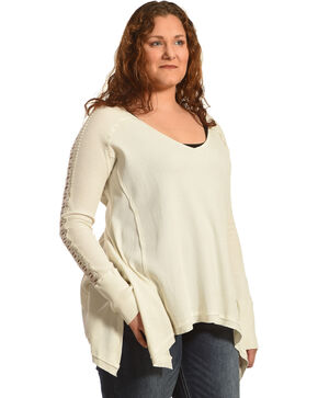 Angel Premium Women's Tandie Top - Plus, Cream, hi-res