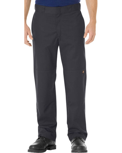Dickies Men's FLEX Regular Fit Straight Leg Double Knee Work Pants, Black, hi-res