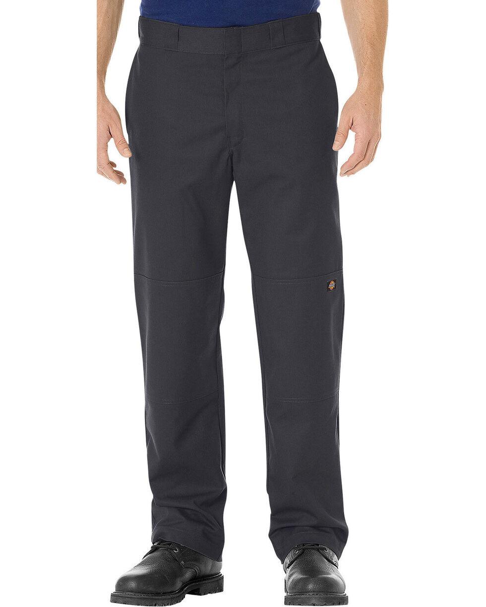 Dickies Men's FLEX Regular Fit Straight Leg Double Knee Work Pants, Black, hi-res