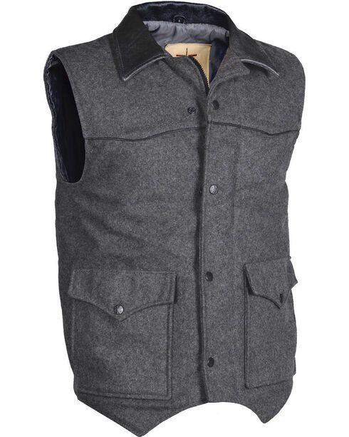 STS Ranchwear Men's Lariat Charcoal Grey Vest - Big & Tall - 4XL, Charcoal Grey, hi-res