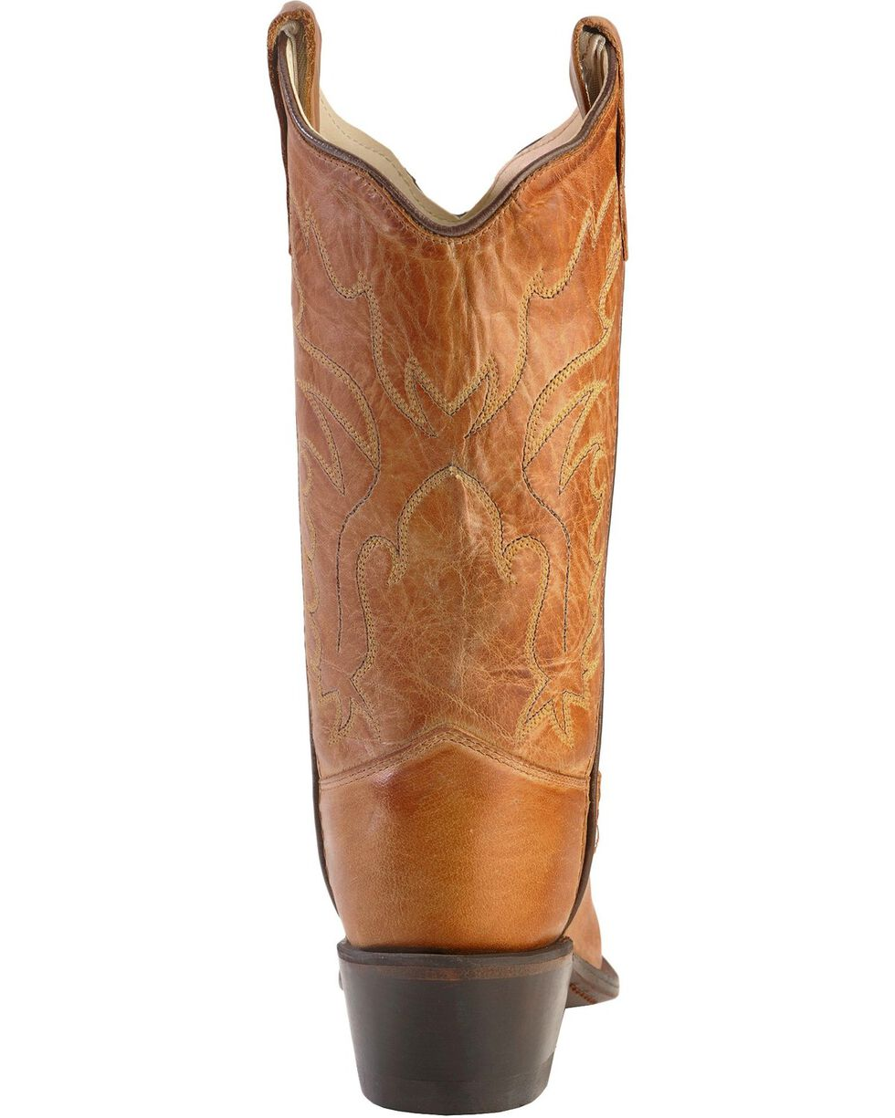 Old West Boys' Tan Canyon Cowboy Boots - Snip Toe, Tan, hi-res